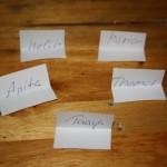 Namen der Gewinner