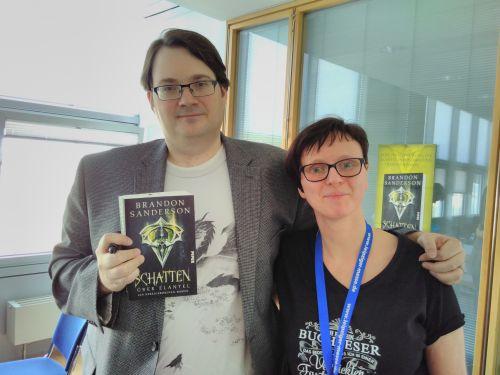 Treffen mit Sanderson, Journalisten und Blogger, Piper-Verlag, Buchmesse Leipzig © Eva Bergschneider