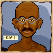 Ghandi aus Civilization © 2K Games