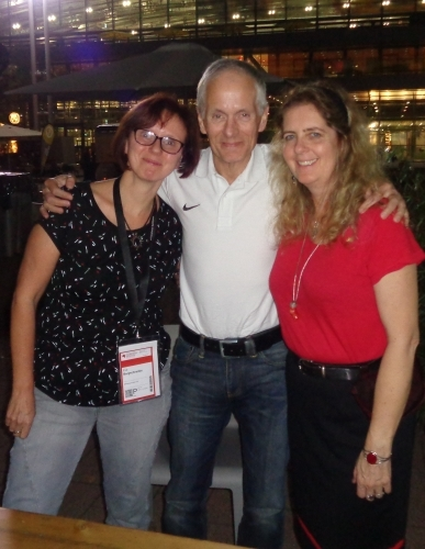 Andreas Brandhorst mit Eva und Amandara © Amandara M. Schulzke