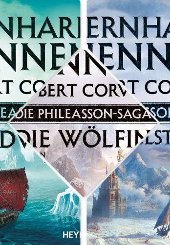 Phileasson-Saga, Band 1 - 3 (Nordwärts, Himmelssturm, Die Wölfin), Hennen u. Corvus ©Heyne
